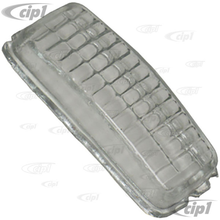 VWC-111-941-371 - (111941371) GOOD QUALITY REPRODUCTION - REPLACEMENT CLEAR GLASS LENSE FOR REVERSE/BACK-UP LIGHT - BEETLE 1967 / GHIA 67-69 / BUS 67-71 / TYPE-3 67-69 - SOLD EACH