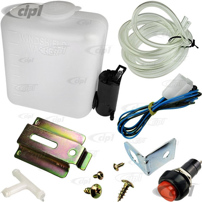 VWC-111-998-001 - (111998001 SIMILAR TO EMPI 15-2060) WINDSHIELD WASHER TANK/BOTTLE KIT WITH 12-VOLT ELECTRIC PUMP (UNIVERSAL FIT) - SOLD KIT