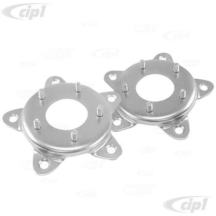 ACC-C10-6705 - (EMPI 00-9502-0) PAIR OF STEEL WHEEL ADAPTERS - 5 BOLT VW TO CHEVY 4 3/4 BOLT CIRCLE (7/16 INCH STUDS) - PAIR