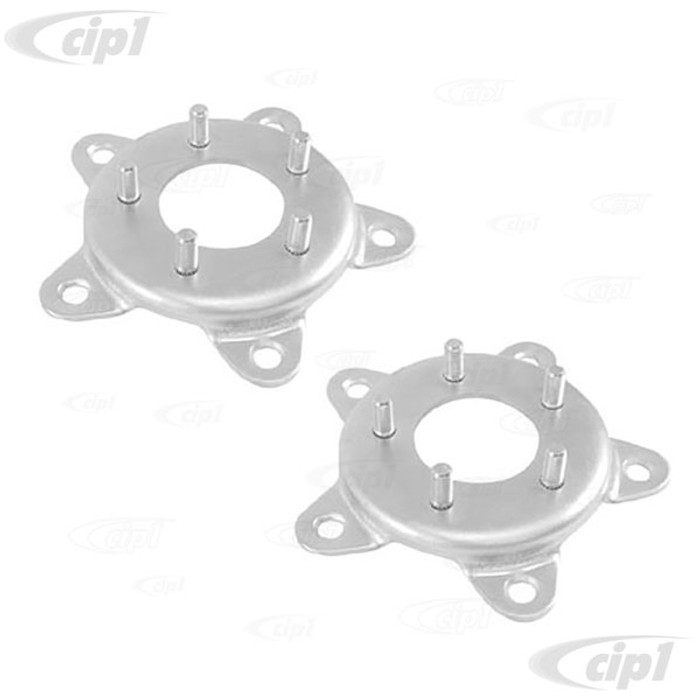 ACC-C10-6707 - (EMPI 00-9505-0) PAIR OF STEEL WHEEL ADAPTERS - 5 BOLT VW TO FORD 4 1/2 BOLT CIRCLE (1/2 INCH STUDS) - PAIR