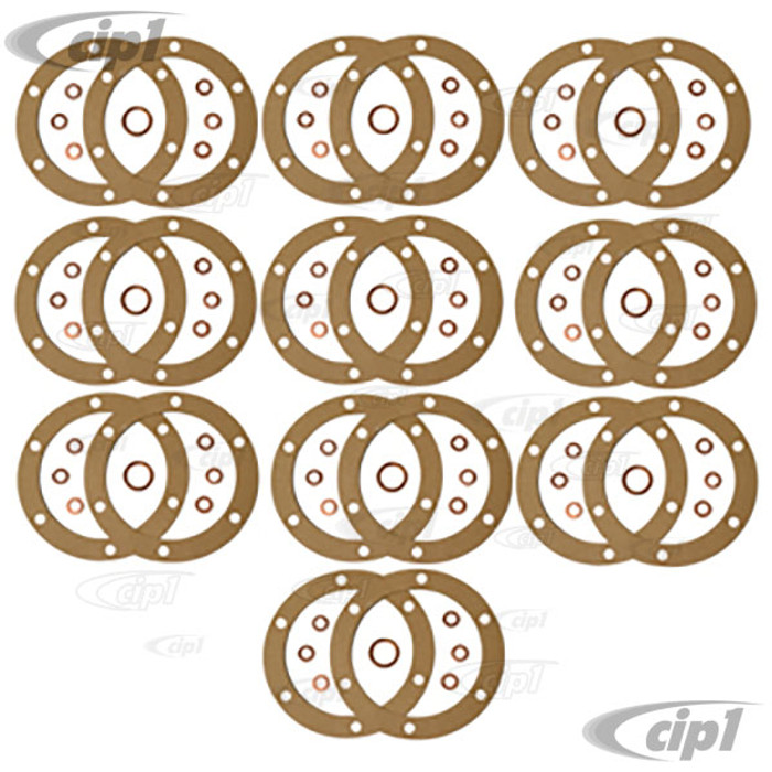 VWC-113-198-031-10 - 10 COMPLETE OIL CHANGE GASKET KITS - ALL 12-1600CC BEETLE STYLE ENGINES - 10 COMPLETE KITS