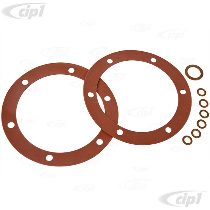 VWC-113-198-031-SI - (113198031) GERMAN MADE - LIFETIME REUSABLE RED AMS HIGH TEMPERATURE SILICONE OIL CHANGE GASKET SET - ALL 12-1600CC - SOLD KIT