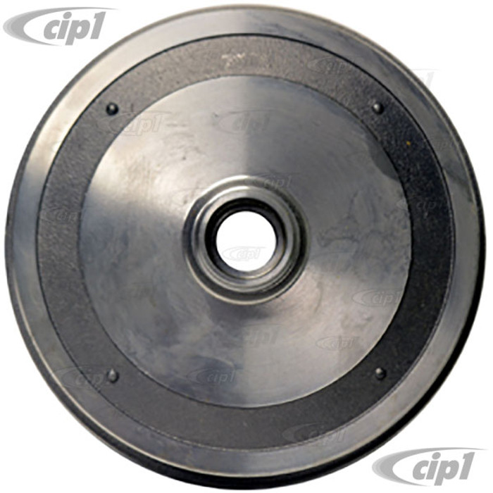 VWC-113-405-615-DBLK - BLANK FRONT BRAKE DRUM - (BOLT HOLES MUST BE DRILLED) STANARD BEETLE 68-77 GHIA 68-74 - SOLD EACH - (A20)