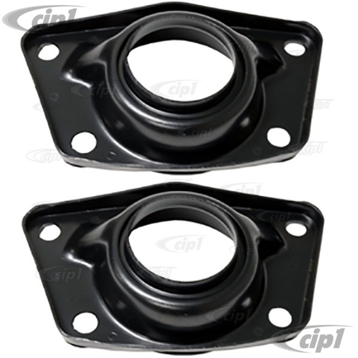 VWC-113-511-227-BPR - REAR TORSION BAR COVERS FOR SINGLE SPRING PLATES - WITH HOLE - LEFT OR RIGHT - BEETLE/GHIA 71-79 - THING 73-74 - SOLD PAIR