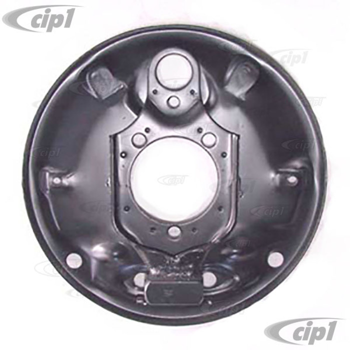 VWC-113-609-139 - (181609139 113609139) EXCELLENT REPRODUCTION - FRONT BRAKE BACKING PLATE - LEFT OR RIGHT - STANDARD BEETLE 66-77 - SOLD EACH