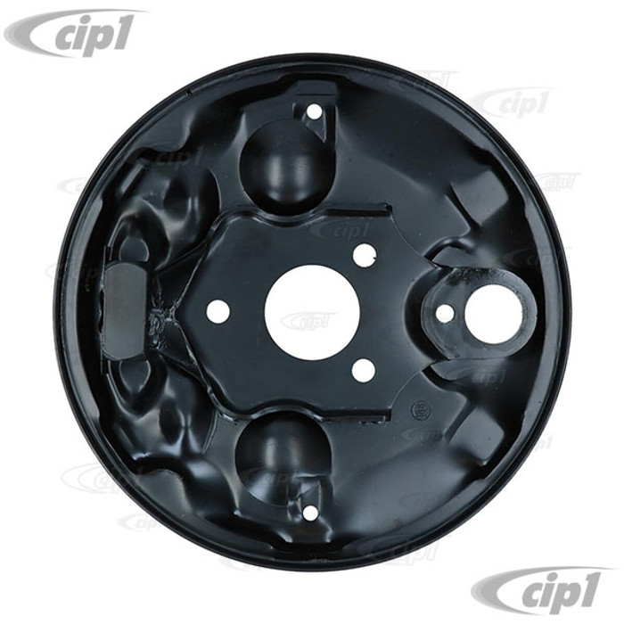 VWC-113-609-139-B - (113609139B) EXCELLENT REPRODUCTION - FRONT BRAKE BACKING PLATE - LEFT OR RIGHT - STANDARD BEETLE 1965 ONLY - SOLD EACH