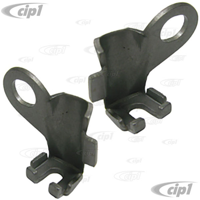 VWC-113-609-637-8PR - E-BRAKE CABLE BRACKETS - INSIDE REAR DRUM - BEETLE/GHIA/T-3 58-79 - SOLD LEFT AND RIGHT PAIR
