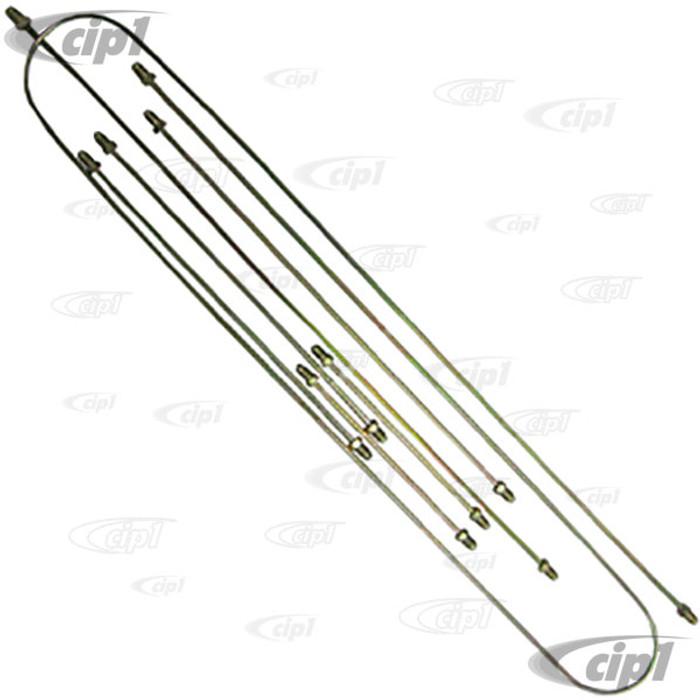 VWC-113-698-996-A - METAL BRAKE LINE KIT - BEETLE 56-66 / GHIA 56-66 - 7 PIECE KIT
