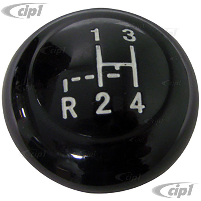 VWC-113-711-141-APBK - (113711141A) EXCELLENT REPRODUCTION - BLACK SHIFT KNOB WITH SHIFT PATTERN - 7MM - BEETLE 62-67 - GHIA 62-67 - SOLD EACH