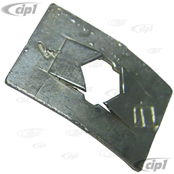 VWC-113-857-113 - GLOVE BOX TRIM FRAME RETAINING METAL CLIPS - STD BEETLE 68-77/SUPER BEETLE 71-72 - SOLD EACH