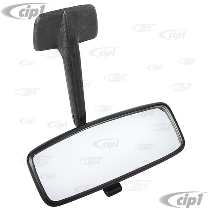 VWC-113-857-511-LBK - OE QUALITY - INTERIOR REAR VIEW MIRROR WITH BLACK ARM - STANDARD BEETLE SEDAN  68-77 (ALSO FITS 71-79 SUPER BEETLE BUT MIRROR SIZE IS SMALLER) - SOLD EACH
