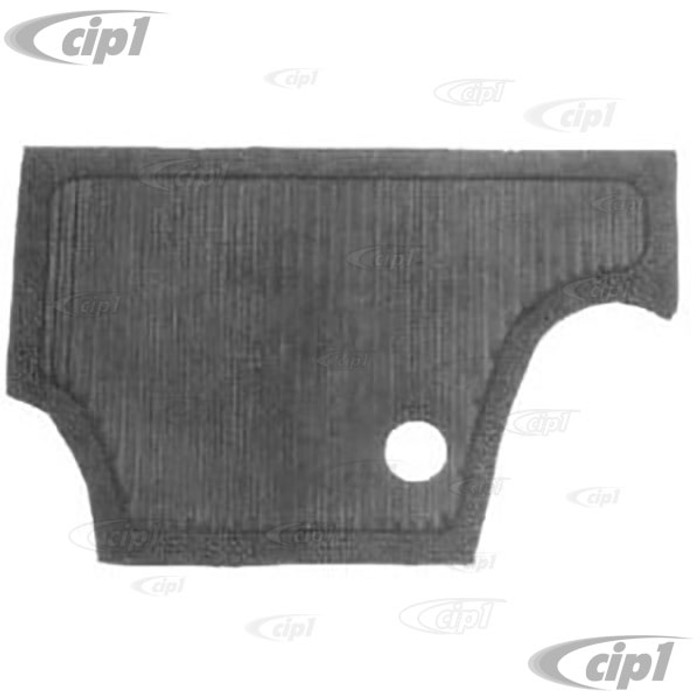 VWC-113-863-107 - (113863107) TOP QUALITY - 60-65 BEETLE FIREWALL RUBBER MAT (SEE NOTES ABOUT COLOR) - SOLD EACH