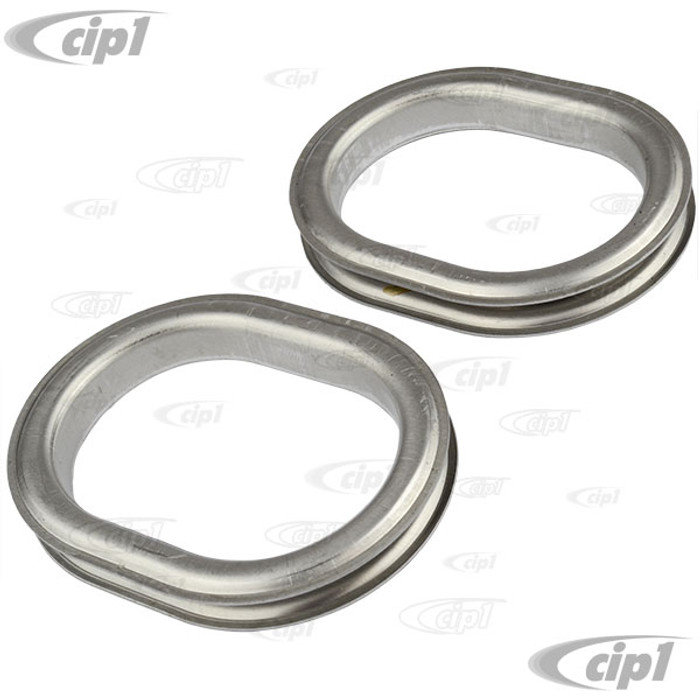 VWC-113-863-545-SET - (113863545) EXCELLENT REPRODUCTION FROM GERMANY - SET OF HEATER OUTLET TRIM RINGS - ALUMINUM TRIMS AROUND THE OUTLETS - BEETLE 54-55 - SOLD 4 PIECE SET