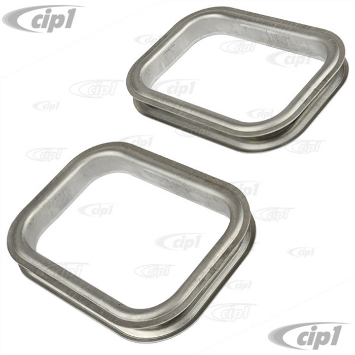 VWC-113-863-547-SET - (113863547) EXCELLENT REPRODUCTION FROM GERMANY - SET OF HEATER OUTLET TRIM RINGS - ALUMINUM TRIMS AROUND THE OUTLETS - BEETLE 56-60 - SOLD 4 PIECE SET