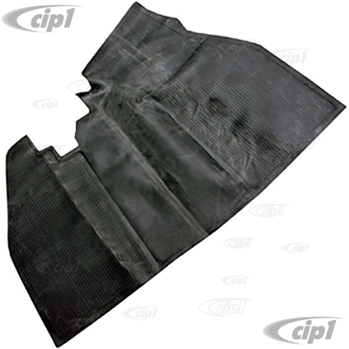 VWC-113-863-703-A - (113863703A) FRONT RUBBER FLOOR MAT OVER TUNNEL - BLACK - BEETLE 60-67 (SEE NOTES ABOUT COLOR) - SOLD EACH