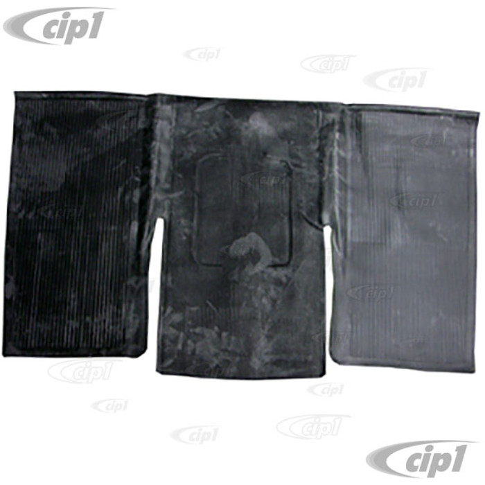 VWC-113-863-717-C - (113863717C) REAR RUBBER FLOOR MAT OVER TUNNEL - BLACK - BEETLE 60-72 (SEE NOTES ABOUT COLOR) - SOLD EACH