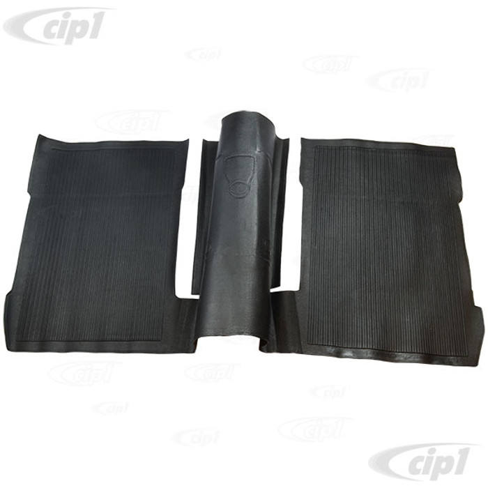 VWC-113-863-717-J - (113863717J) REAR RUBBER FLOOR MAT OVER TUNNEL - BLACK - BEETLE 73-79 (SEE NOTES ABOUT COLOR) - SOLD EACH