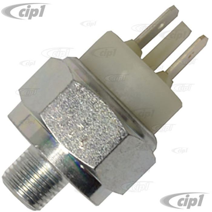 VWC-113-945-515-HGR (113945515H) - GERMAN MADE (ATE OR FTE) - BRAKE LIGHT SWITCH 2 PRONG - BEETLE 50-69/GHIA 56-69/BUS 50-69/TYPE-3 62-69 - SOLD EACH
