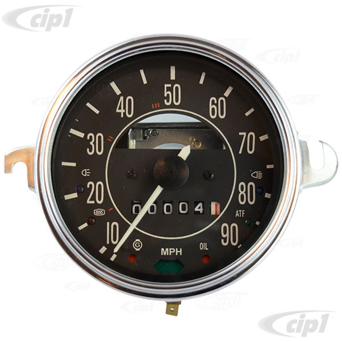 VWC-113-957-057-H - (113957057H) EXCELLENT REPRODUCTION - NEW SPEEDOMETER (FUEL GAUGE SOLD SEP.) - 0-90 MPH - STANDARD BEETLE 68-77 - SUPER BEETLE 71-72 - GHIA 73-74 - SOLD EACH