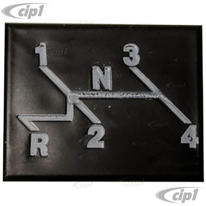 VWC-133-000-269 - DASH COVER PLATE WITH SHIFT PATTERN - SUPER BEETLE 73-79 - SOLD EACH