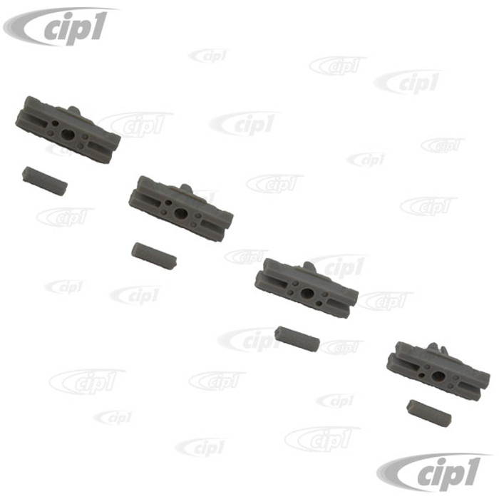 VWC-133-853-585-SET - (133853585) GERMAN MADE - SET OF 4 MOLDING CLIPS FOR FRONT COWL MOLDINGS - SUPER BEETLE 71-79 - SOLD SET OF 4