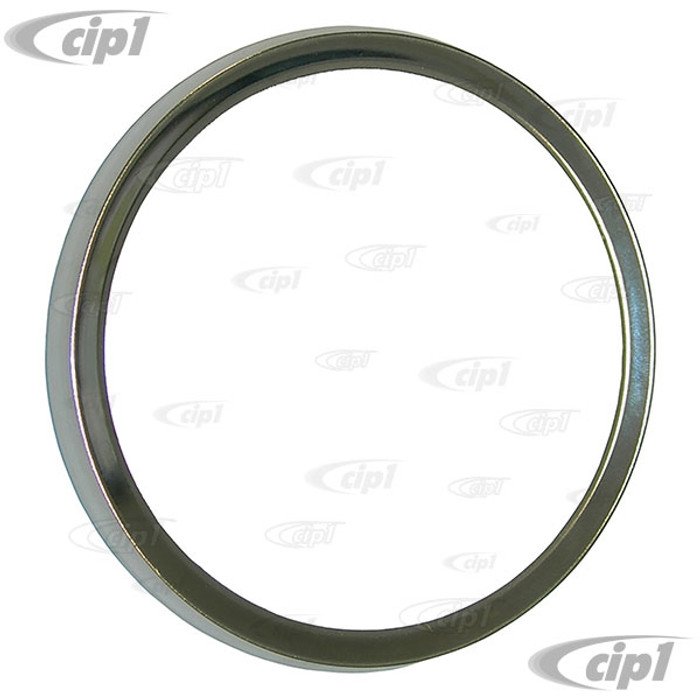 VWC-133-957-361 - (133957361) MADE IN GERMANY - POLISHED ALUMINUM SPEEDOMETER TRIM RING - SECURES GLASS TO SPEEDO GAUGE - SUPER BEETLE 73-79 - SOLD EACH