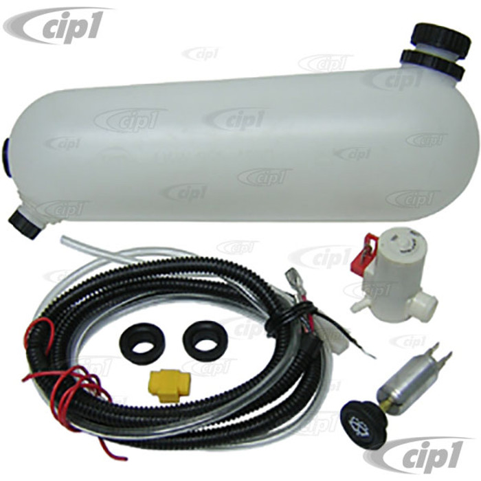 VWC-133-989-453-B - 12V WASHER BOTTLE KIT WITH PUMP - SUPER BEETLE 71-79 - WITH WIRING HARDWARE
