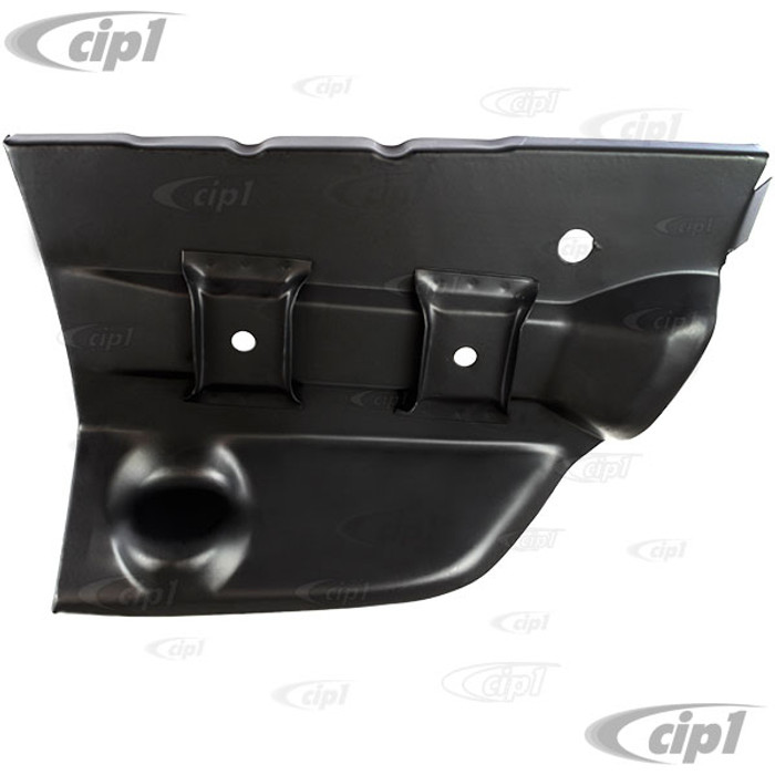 VWC-141-800-715 - (141800715) EXCELLENT QUALITY - LEFT REAR INNER FENDER / BUMPER BRACKET MOUNT REPAIR SECTION - DRIVER SIDE - GHIA 56-74 - SOLD EACH