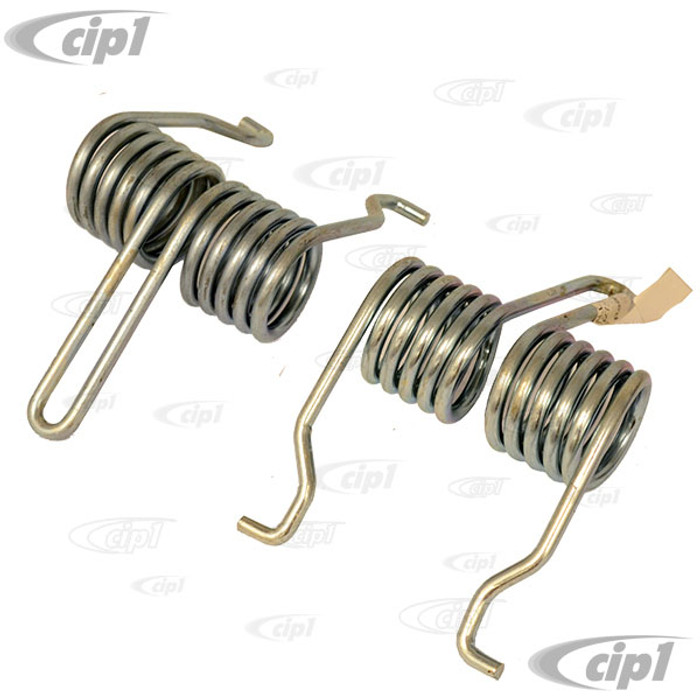 VWC-141-827-331-PR - TOP QUALITY - PAIR OF STOCK REPLACEMENT REAR DECKLID (ENGINE LID) SPRINGS - GHIA 56-74 - SOLD PAIR