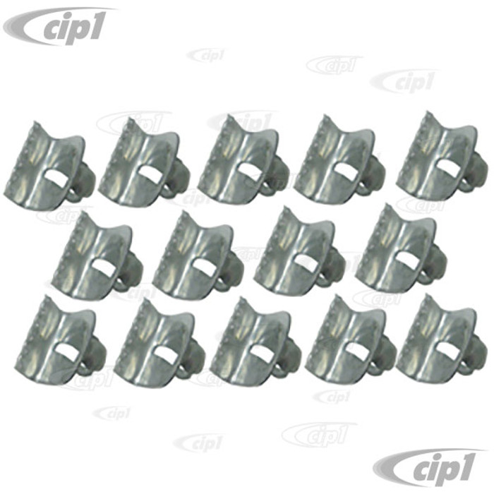 VWC-141-837-487-SET - (141837487) OE QUALITY - SET OF 14 INNER DOOR FELT MOUNTING CLIPS - LEFT AND RIGHT DOORS - GHIA 58-74 - SOLD SET OF 14 PIECES