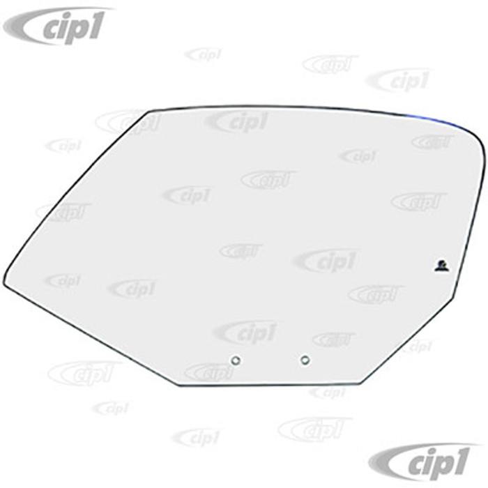 VWC-141-845-201-C - (141845201C) - GERMAN - FRONT DOOR GLASS - CLEAR - LEFT - GHIA CONVERTIBLE (ONLY) 68-74 - SOLD EACH