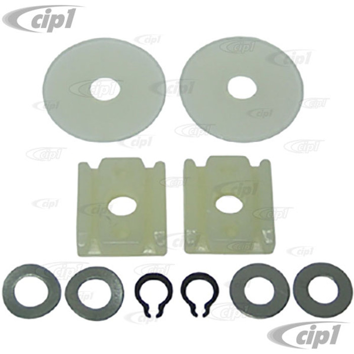 VWC-151-837-507 - WINDOW REGULATOR REPAIR KIT 10PC LEFT OR RIGHT - BEETLE CONVERTIBLE 65-79 - KIT DOES ONE DOOR - MADE IN GERMANY