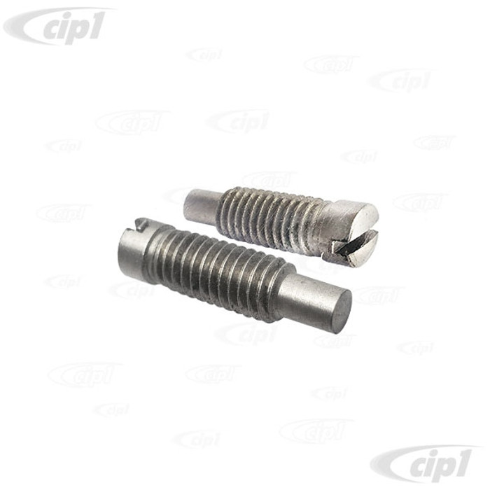 VWC-151-837-633-BPR - (151837633B) GERMAN - PAIR OF VENT WINDOW UPPER PIVOT PIN SCREWS - BEETLE CONVERTIBLE 73-79 - SOLD PAIR