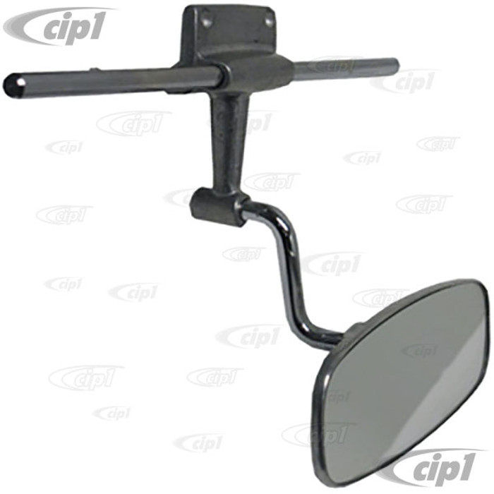 VWC-151-857-511-B - HIGH QUALITY REPRODUCTION - INTERIOR CHROME REAR VIEW MIRROR WITH VISOR ARMS (SPECIAL NOTE: MIRROR HAS LIMITED RANGE OF MOVEMENT) - BEETLE CONVERTIBLE 58-63 - SOLD EACH