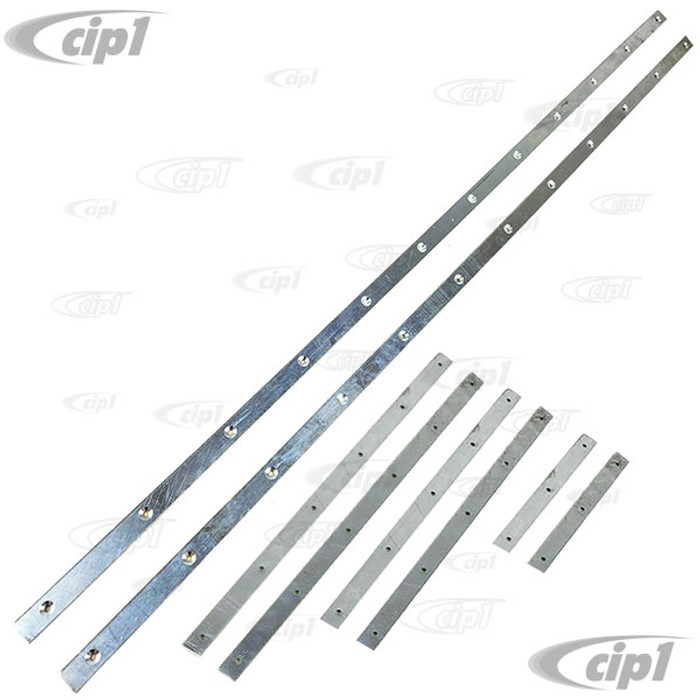 VWC-151-871-359-ST - (151871359) - ALUMINUM SECURING STRIPS/INSERT BARS FOR SIDE TOP SEALS (SCREWS SOLD SEP. SEE VHD-N11-3221-50) - BEETLE 50-64 - SOLD 8 PIECE SET