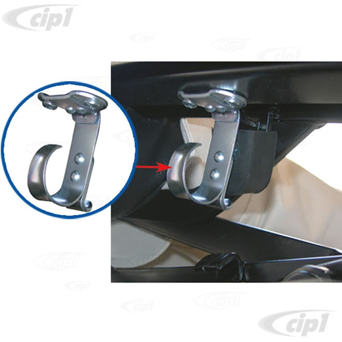 VWC-151-871-391-A - (151871391A) EXCELLENT QUALITY GERMAN MADE - CONVERTIBLE TOP HOLD DOWN CATCH/CLIP - BEETLE 60-79 - EACH SOLD
