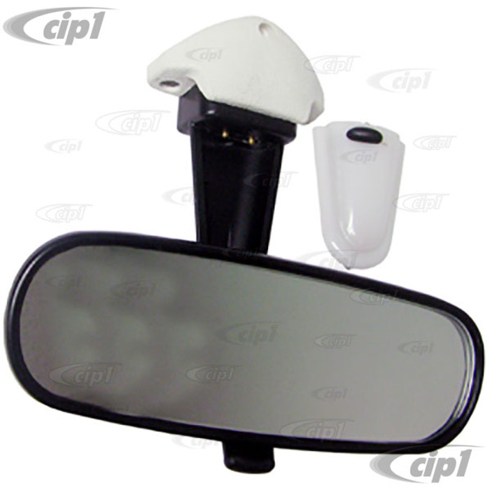 VWC-151-947-131-ACM - (151947131A) EXCELLENT REPRODUCTION - COMPLETE INTERIOR REAR VIEW MIRROR WITH LIGHT AND BASE (BULB AND SCREWS ARE NOT INCLUDED) - CONVERTIBLE BEETLE 68-79 / ALL GHIA 68-74 - SOLD EACH