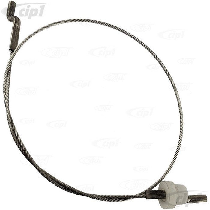 VWC-171-881-595-A - (171881595A) GERMAN - SEAT RELEASE PULL OUTER CABLE - 342MM - BEETLE 76-79 - RABBIT/GOLF/JETTA 4/74-7/80 - SOLD EACH