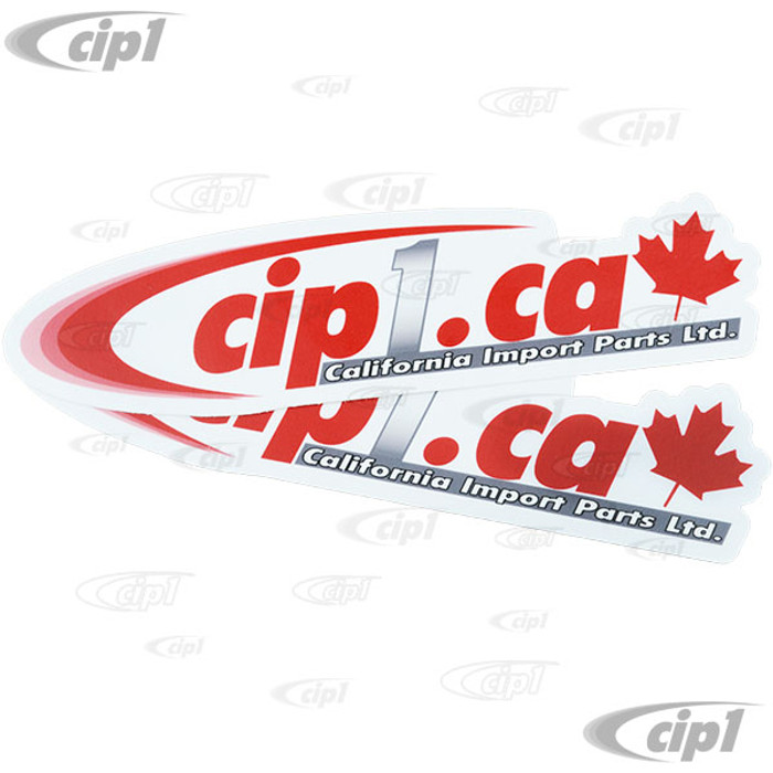 ACC-C10-CIPS-CA - PAIR OF Cip1 LOGO OVAL DECALS - 8 INCH x 1.75 INCH (200mm x 45mm) - SOLD PAIR