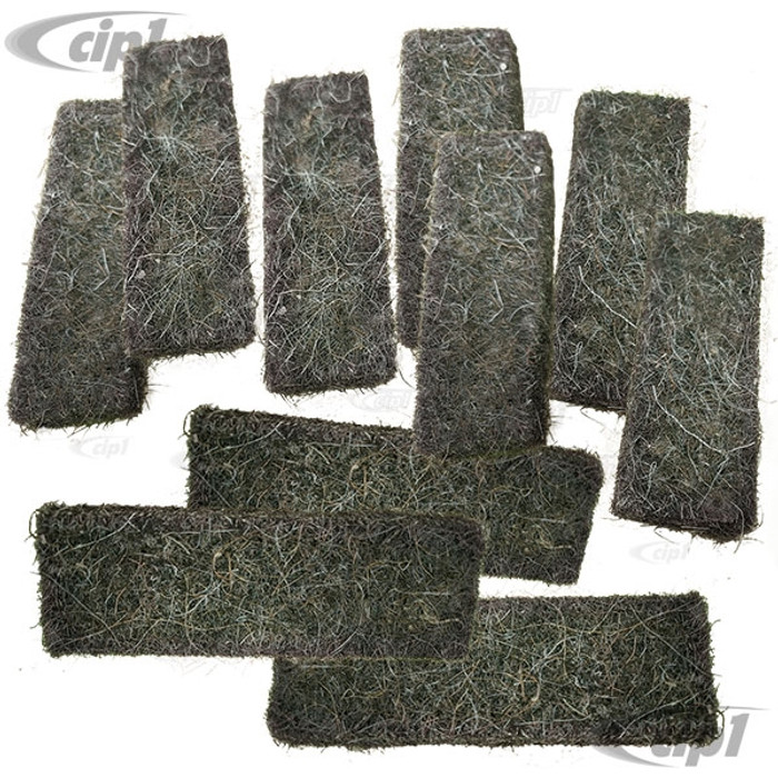 VWC-211-201-555 - (211201555) - SET OF 10 FUEL TANK FIBER PADS - PROTECTIVE PADS BETWEEN TANK AND METAL HOLD DOWN STRAPS - BUS 52-79 - SOLD SET