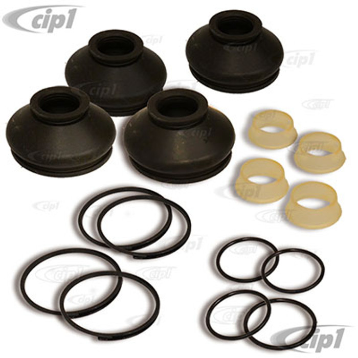 VWC-211-405-375-SET - (211405375) EXCELLENT QUALITY - SET OF 4 REPLACEMENT BALL-JOINT BOOTS WITH CLIPS (ENOUGH TO DOES 1 VEHICLE) - BUS 68-79 - SOLD SET OF 4