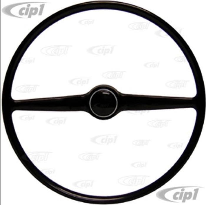 VWC-211-415-655-B - (211415655B) NEW STOCK REPLACEMENT - BLACK STEERING WHEEL (INCLUDES HORN BUTTON) - BUS 75-79 - SOLD EACH