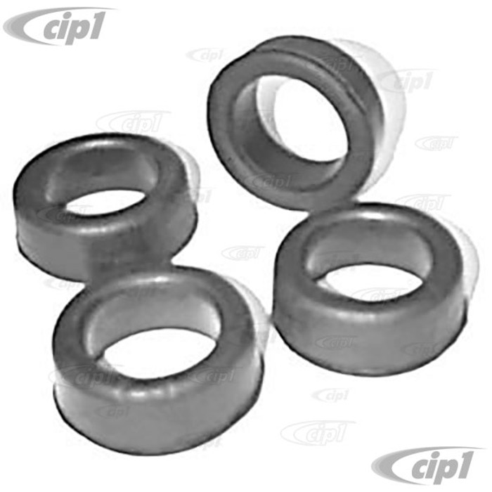VWC-211-511-245-4 - (211511245) EXCELLENT QUALITY - SET OF 4 SPRING PLATE RUBBER BUSHINGS - INNER & OUTER - BUS 55-79 - SOLD SET OF 4