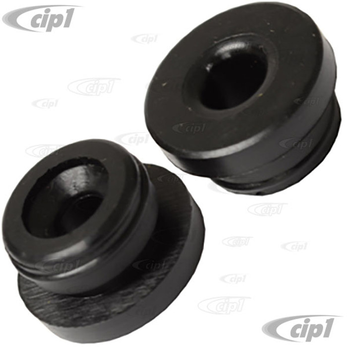 VWC-211-611-817-APR - PAIR OF BRAKE MASTER CYLINDER RUBBER PLUGS - SECURES INLET PIPES TO CYL.- MEASURES 7MM INLET / 18MM O.S. DIA. - BEETLE 67-71/GHIA 67-71/TYPE-3 67-71/BUS 67-79 - SOLD PAIR