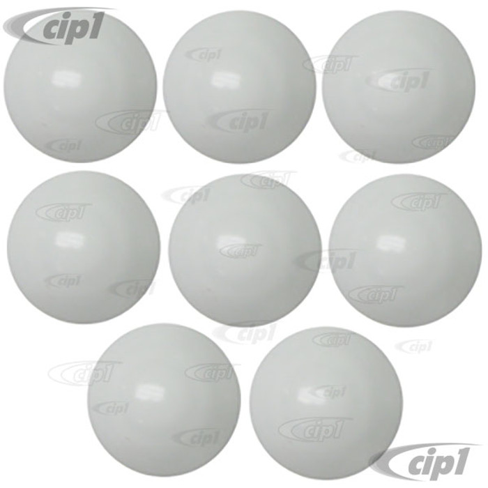 VWC-211-707-192-WST - OE QUALITY - SET OF 8 BUMPER BOLT PLASTIC COVERS - WHITE - BUS 73-79 - SOLD SET OF 8