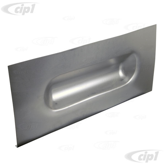 VWC-211-801-081-Z - (211801081) LOWER BULKHEAD FOOT BULGE PANEL - 1 PER SIDE REQUIRED - MEASURES 645MM (25-3/8 IN.) WIDE - 295MM (11-5/8 IN.) TALL - BUS 52-79 - SOLD EACH