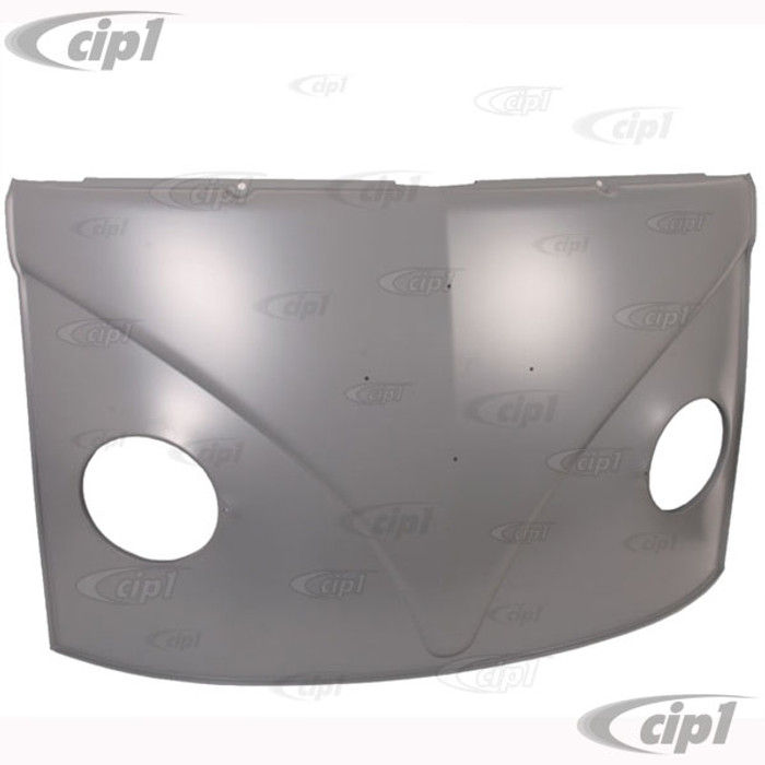 VWC-211-805-035-D - (211805035D) PERFECT REPRODUCTION - COMPLETE FRONT NOSE PANEL WITHOUT LOWER WINDSHIELD FRAME (WITH TEMPLATE FOR TURNSIGNAL CUTOUTS) - BUS 52-67 - SOLD EACH