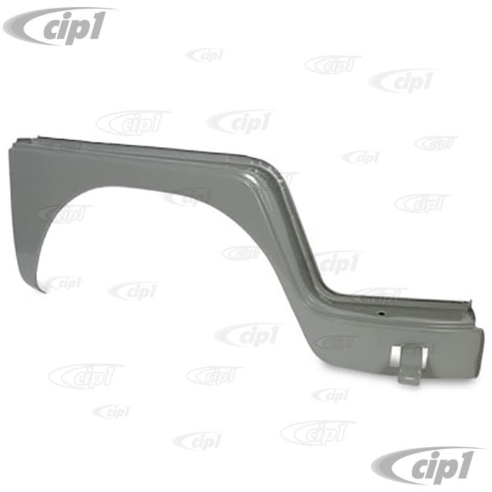 VWC-211-809-502 - (211809502) EXCELLENT QUALITY REPRODUCTION - COMPLETE FRONT WHEEL ARCH DOG LEG UNDER DOOR (WIDE LIP) - RIGHT - BUS 52-62 - SOLD EACH