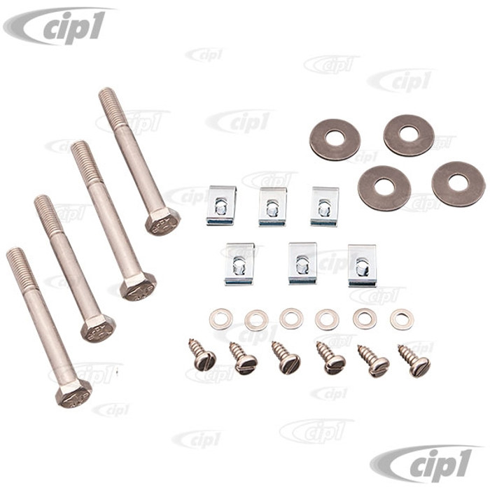 VWC-211-813-001-A - (211813001) REAR APRON INSTALLATION HARDWARE KIT (WITH 4 BOLT HOLES) - BUS 68-71 - SOLD KIT