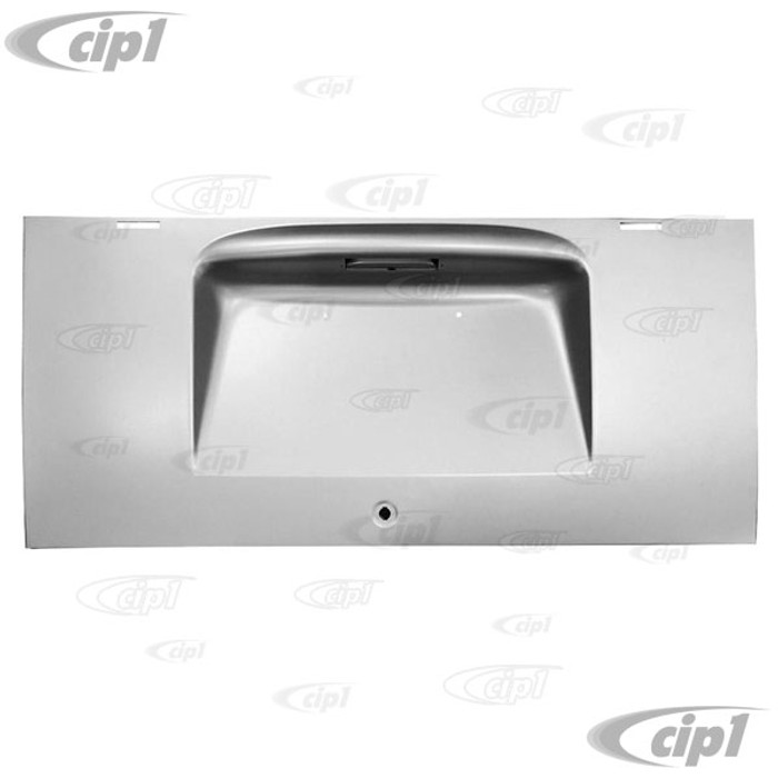 VWC-211-827-025-BC - (211827025B) EXCELLENT REPRODUCTION - ENGINE DECK LID - WITH SILVER WELD THRU PRIMER - BUS 12/63-65 - SOLD EACH
